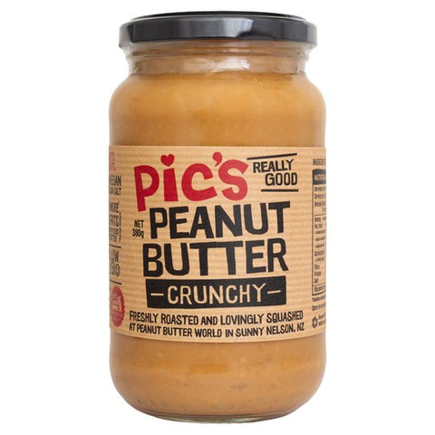Pic's Brand Peanut Butter Crunchy (380g) - Organic Pavilion