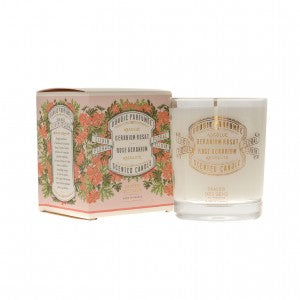 Panier Rose Geranium Absolute Scented candle เทียนหอม (180 g) - Organic Pavilion