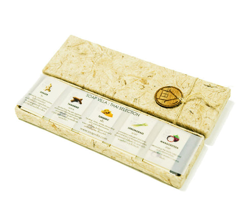 Soap Villa Natural Soap Bar Gift Set - Thai Selection (25gm x 5)