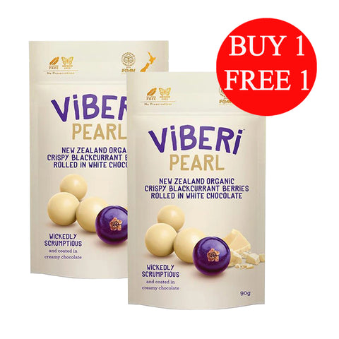 Viberi Pearl Organic Chocolate Rolled Blackcurrants (90g)