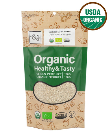 Mr. & Mrs. White Sesame (250 gm) - Organic Pavilion