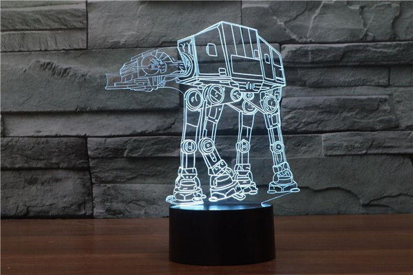 Lampada - Star Wars | Lampada Multicolore 3D A LED | Personaggio AT-AT Walker
