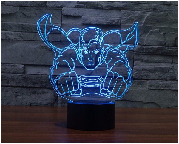 Lampada - Superman | Lampada Multicolore A LED