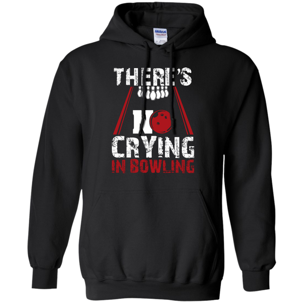 There's No Crying In Bowling Hoodie Black
