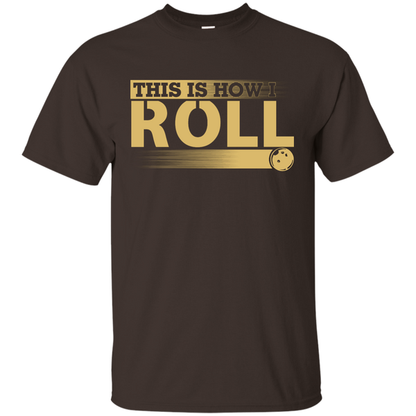 Funny Bowling Tshirt - This Is How I Roll - Dark Chocolate