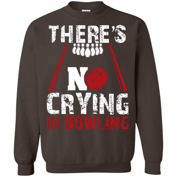 There's No Crying In Bowling Crewneck Dark Chocolate
