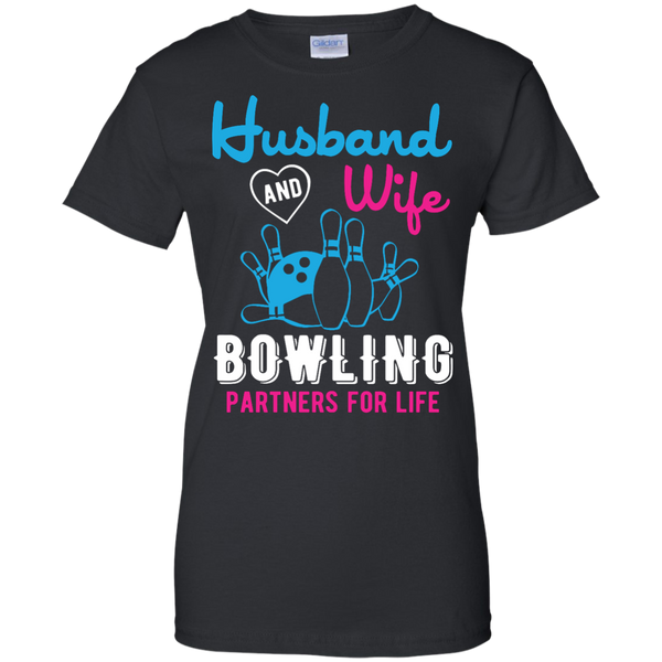 Husband And Wife Bowling Partners For Life - Women - Couples Bowling Shirt - Black