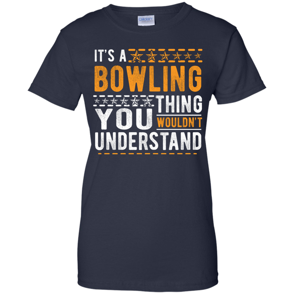 Navy Ladies Bowling Tee - It's A Bowling Thing You Wouldn't Understand - by BowlBusters