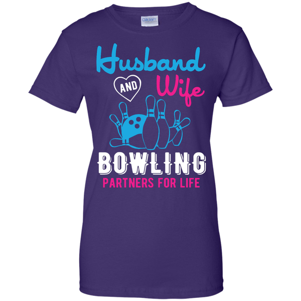 Husband And Wife Bowling Partners For Life - Women - Couples Bowling Shirt - Purple