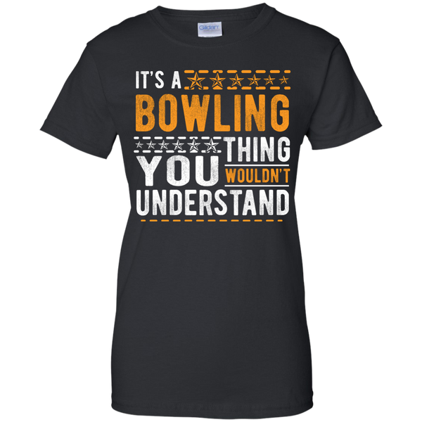 Black Ladies Bowling Tee - It's A Bowling Thing You Wouldn't Understand - by BowlBusters