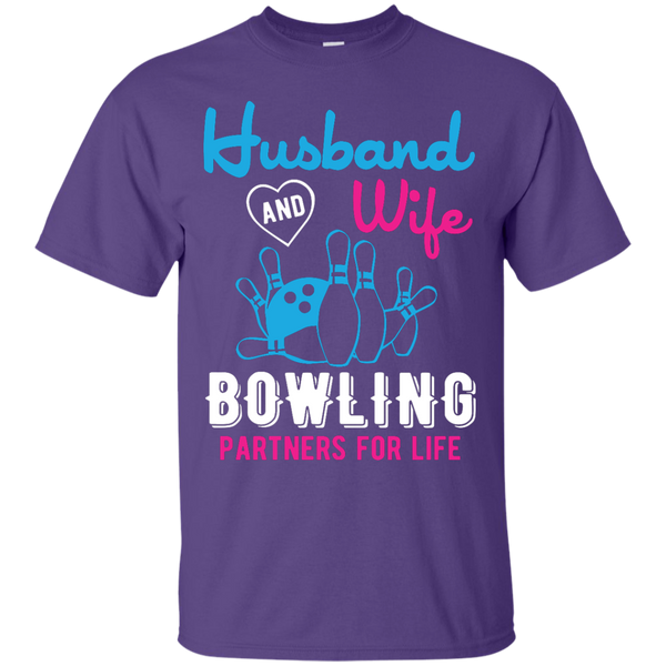 Husband And Wife Bowling Partners For Life - Men - Couples Bowling Shirt - Purple