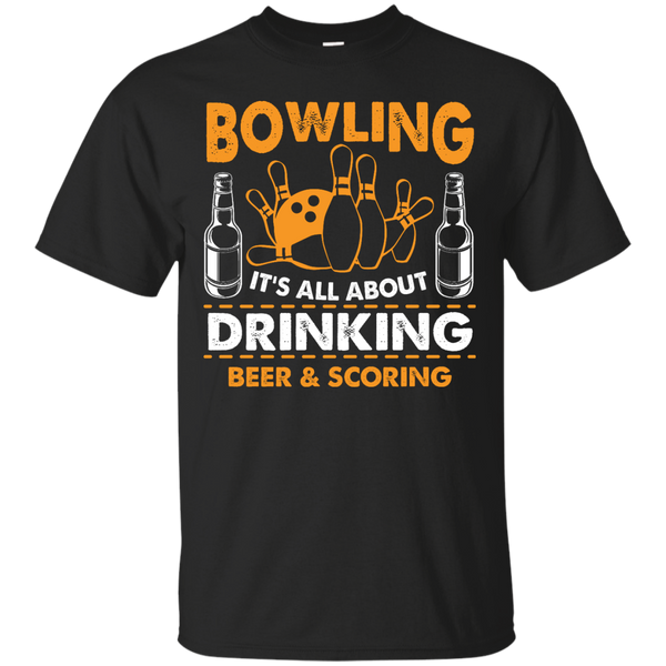 Bowlbusters Shirt - Bowling It's All About Drinking Beer And Scoring Black