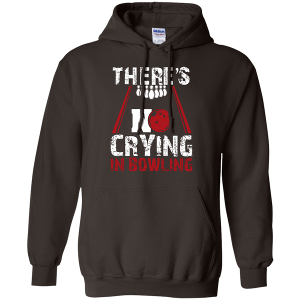 There's No Crying In Bowling Hoodie Dark Chocolate