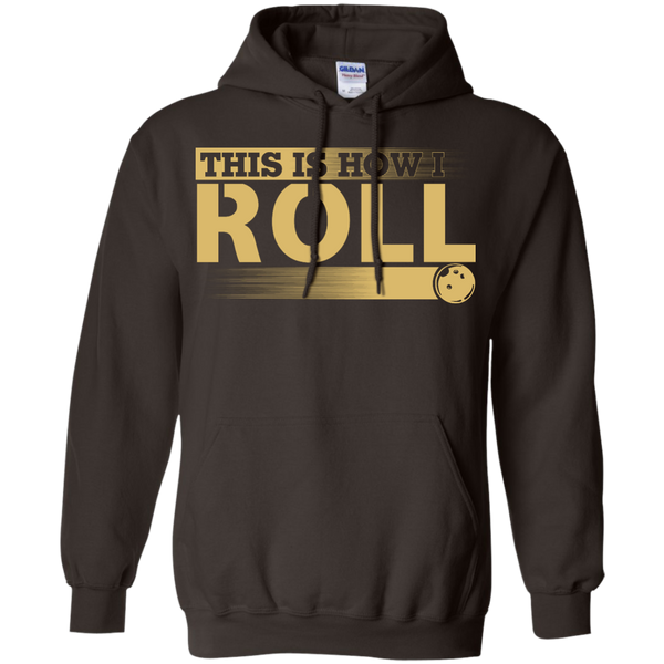 Funny Bowling Hoodie - This Is How I Roll - Dark Chocolate