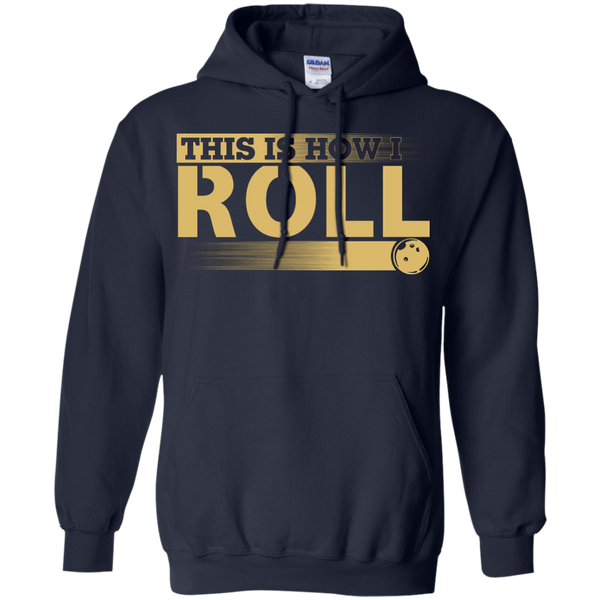 Funny Bowling Hoodie - This Is How I Roll - Navy