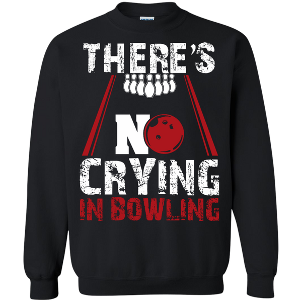 There's No Crying In Bowling Crewneck Black