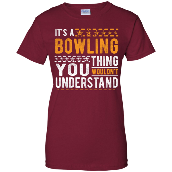 Cardinal Red Ladies Bowling Tee - It's A Bowling Thing You Wouldn't Understand - by BowlBusters
