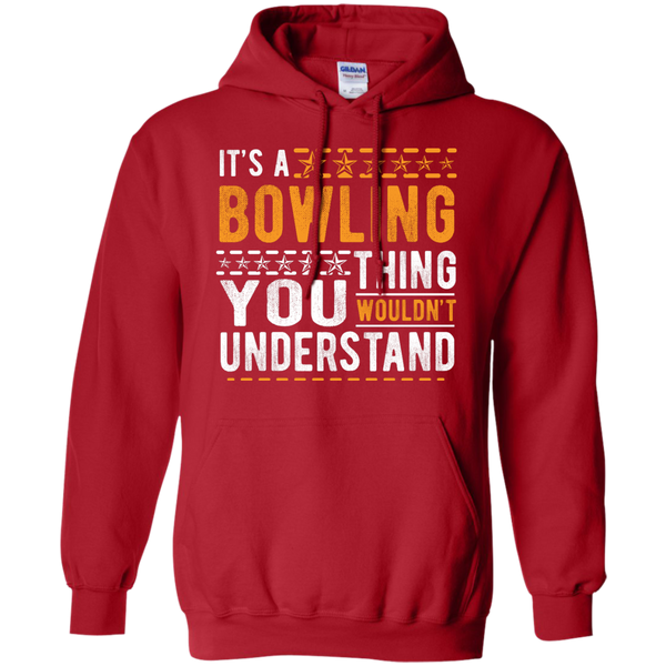 Red Bowling Hoodie - It's A Bowling Thing You Wouldn't Understand - by BowlBusters