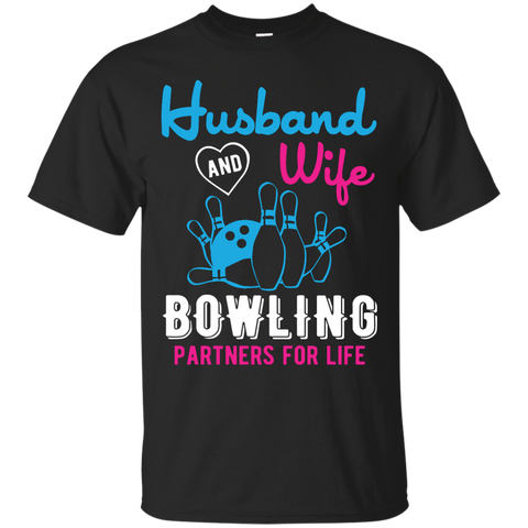 Husband And Wife Bowling Partners For Life - Men - Couples Bowling Shirt - Black