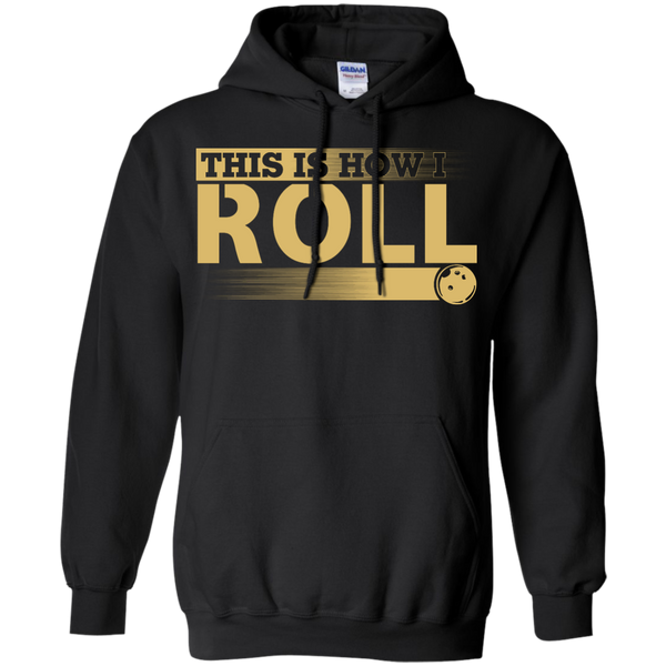 Funny Bowling Hoodie - This Is How I Roll - Black