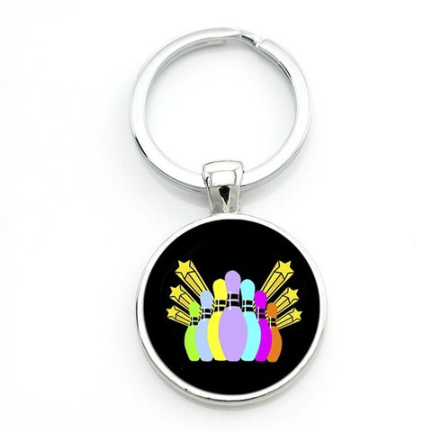 Modern Bowling Keychain - Colorful Pins - Bowl Busters