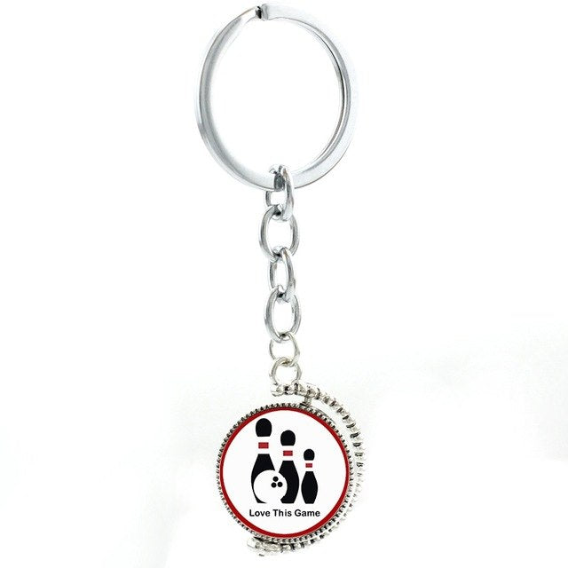 Stylish Bowling Keychain - Love This Game - Bowl Busters