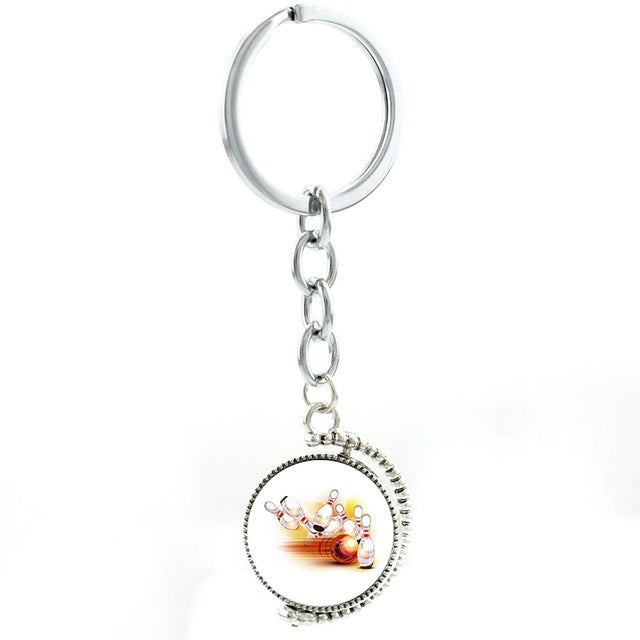 Stylish Bowling Keychain - Red Strike - Bowl Busters
