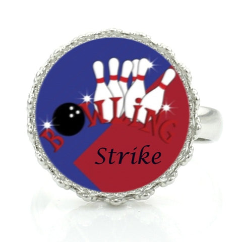Bowling Ring - Red & Blue - Bowl Busters