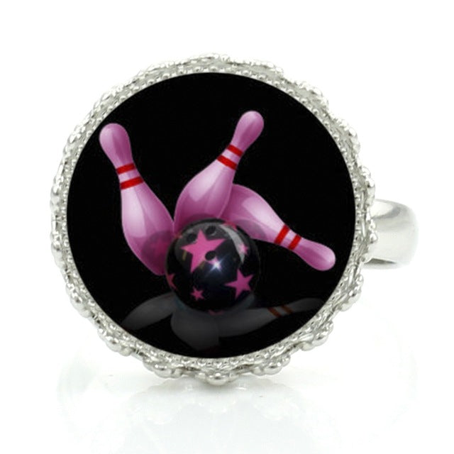 Bowling Ring - Black & Pink - Bowl Busters