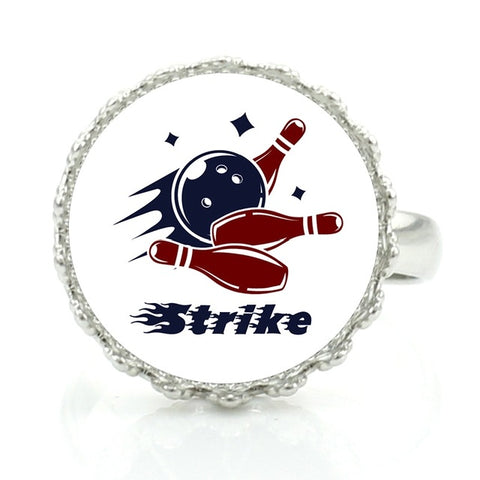 Bowling Ring - Blue & Red Strike - Bowl Busters