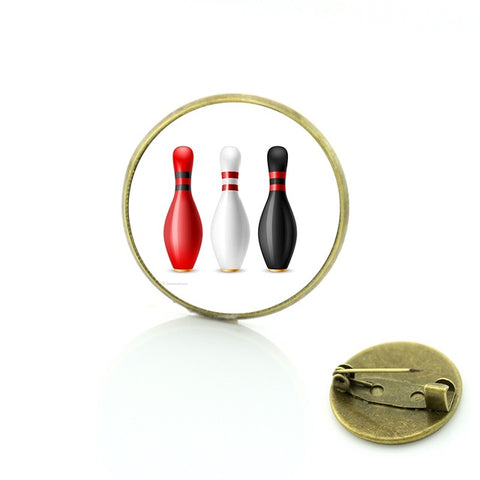Bowling Badge - 3 Colored Pins - Bowl Busters
