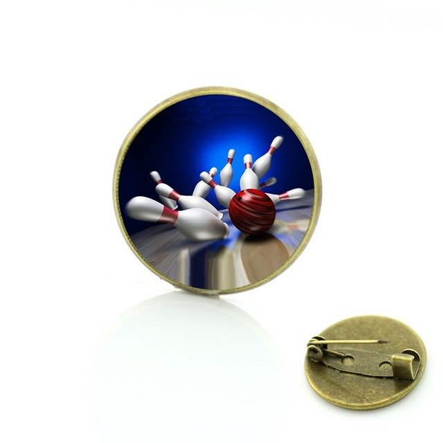 Bowling Badge - Colorful Strike