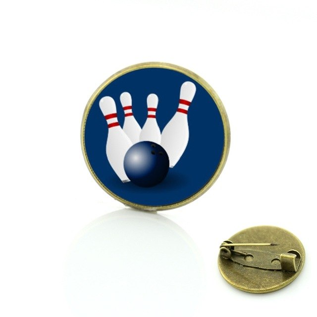 Bowling Badge - Blue