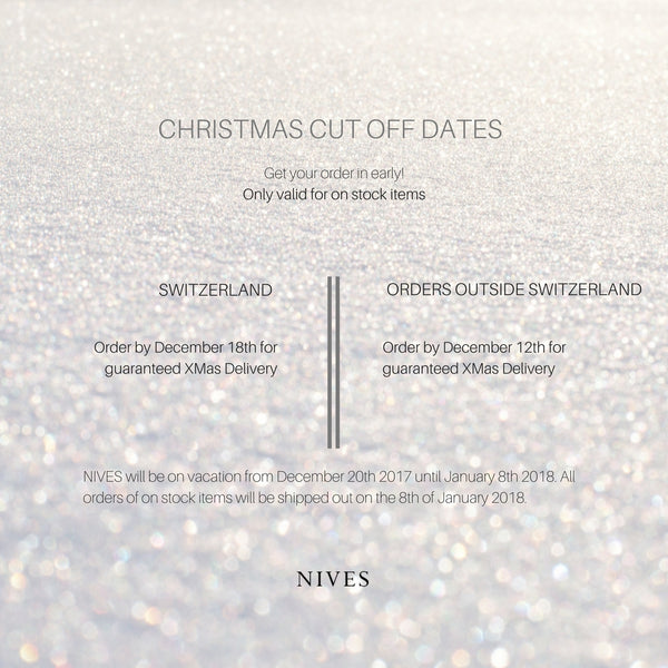 CHRISTMAS CUT OFF DATES 2017