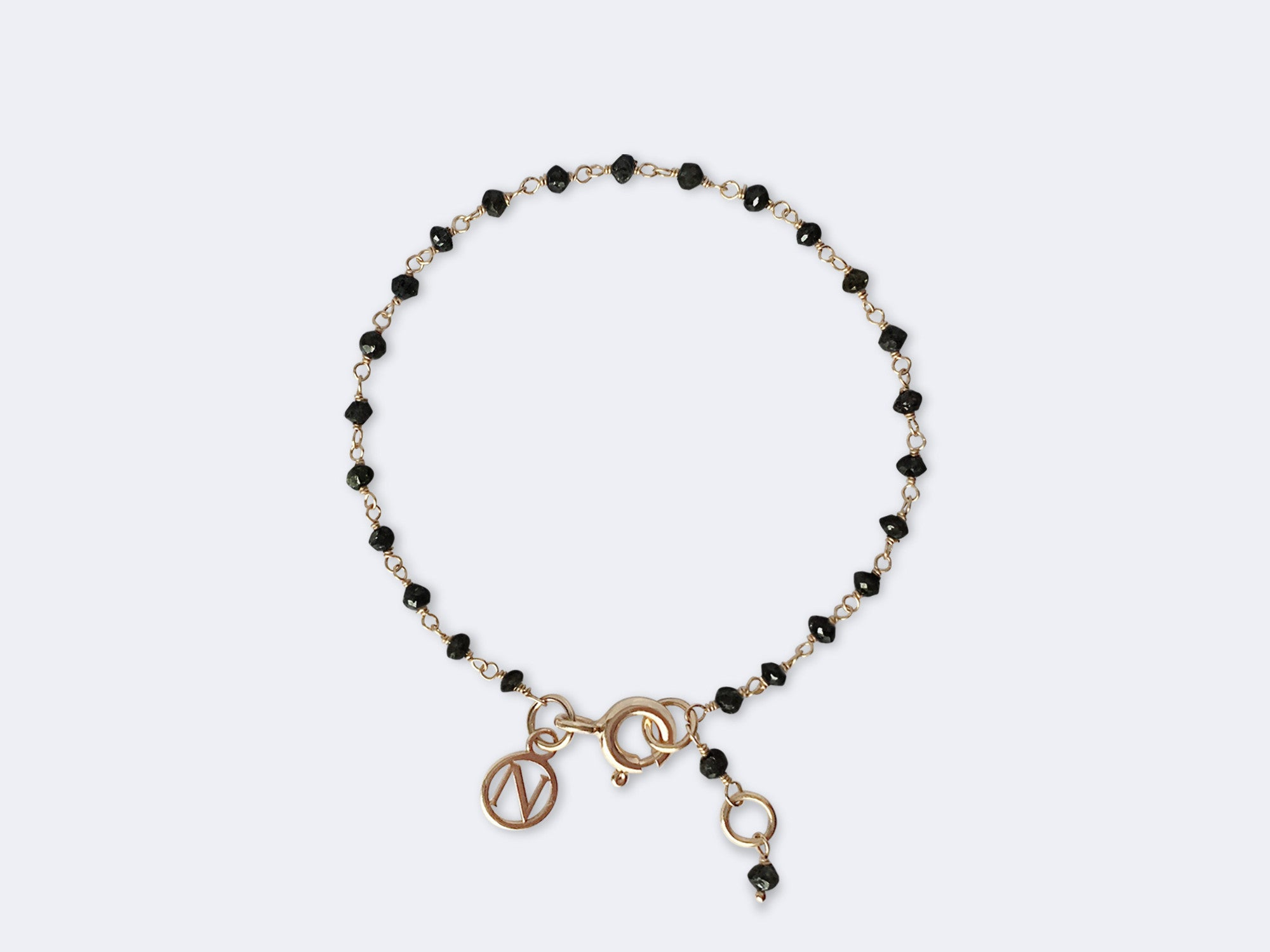 kids img bracelet bead products rosary diamond black gold nives