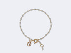 KIDS LIGHT GREY DIAMOND BEAD 18k GOLD ROSARY BRACELET - NIVES