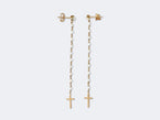 PAIR OF LONG PEARL ROSARY EARRINGS - NIVES