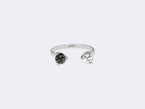 AJAR RING - BLACK AND WHITE DIAMOND - NIVES