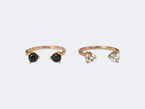 AJAR - RING - TWO BLACK DIAMONDS - NIVES