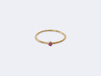 FINE 18K GOLD POLISHED RUBY RING - NIVES