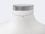 ROSARY CHOKER NECKLACE - PEARL VERSION - NIVES