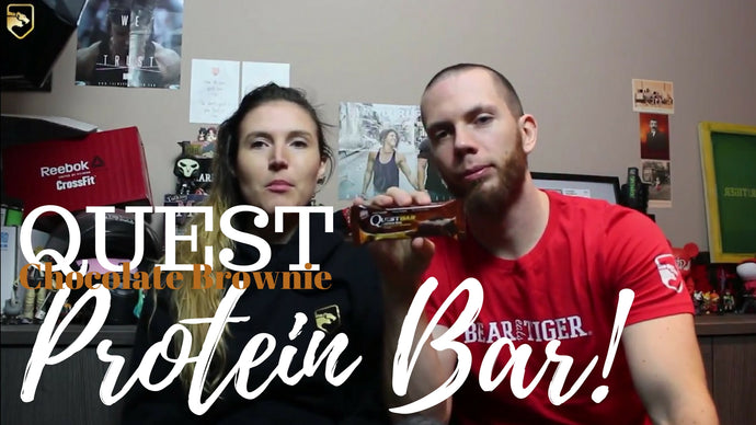 Quest Nutrition Chocolate Brownie Protein Bar Review | Bear Eats Tiger