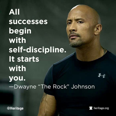all succcesses start with self discipline it starts with you dwayne johnson the rok bear eats tiger beareatstiger