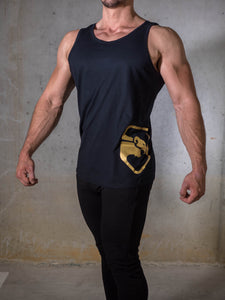 Black & Gold Men's Tank top