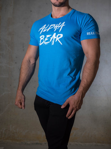 Bear Eats Tiger beareatstiger tshirt kleren fitness clothing gym crossfit alphabear azur blue