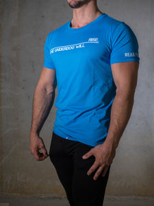 Bear Eats Tiger beareatstiger tshirt kleren fitness clothing gym crossfit azur blue underdog