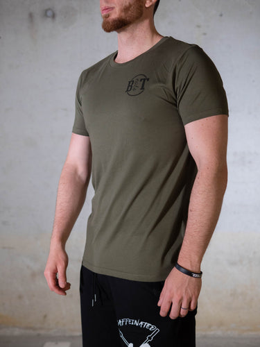 Bear Eats Tiger beareatstiger tshirt kleren fitness clothing gym crossfit limited edition khaki green beatst powerful beyond measure