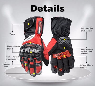 Carbon Fiber Waterproof Gloves - Motorcycle Lab