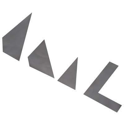 Builder's Metal Template Set (Part # HCAR0500)