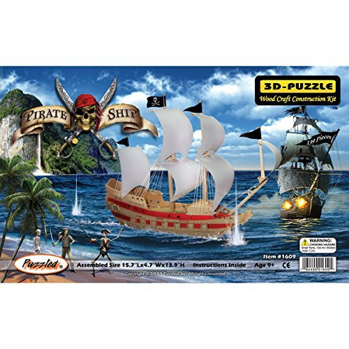 3D PUZZLE PIRATE SHIP (Part # WSK1609)